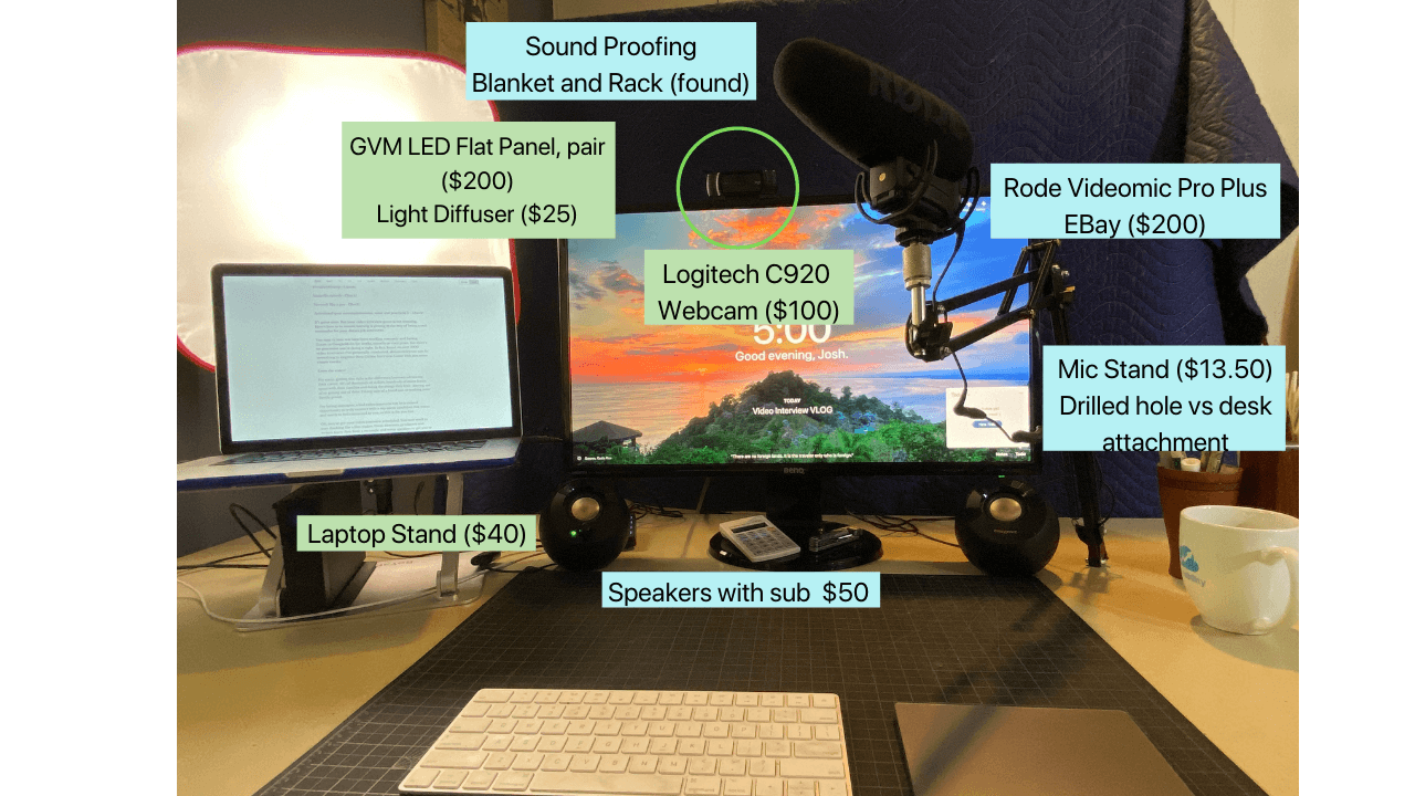 Cool home desk set up